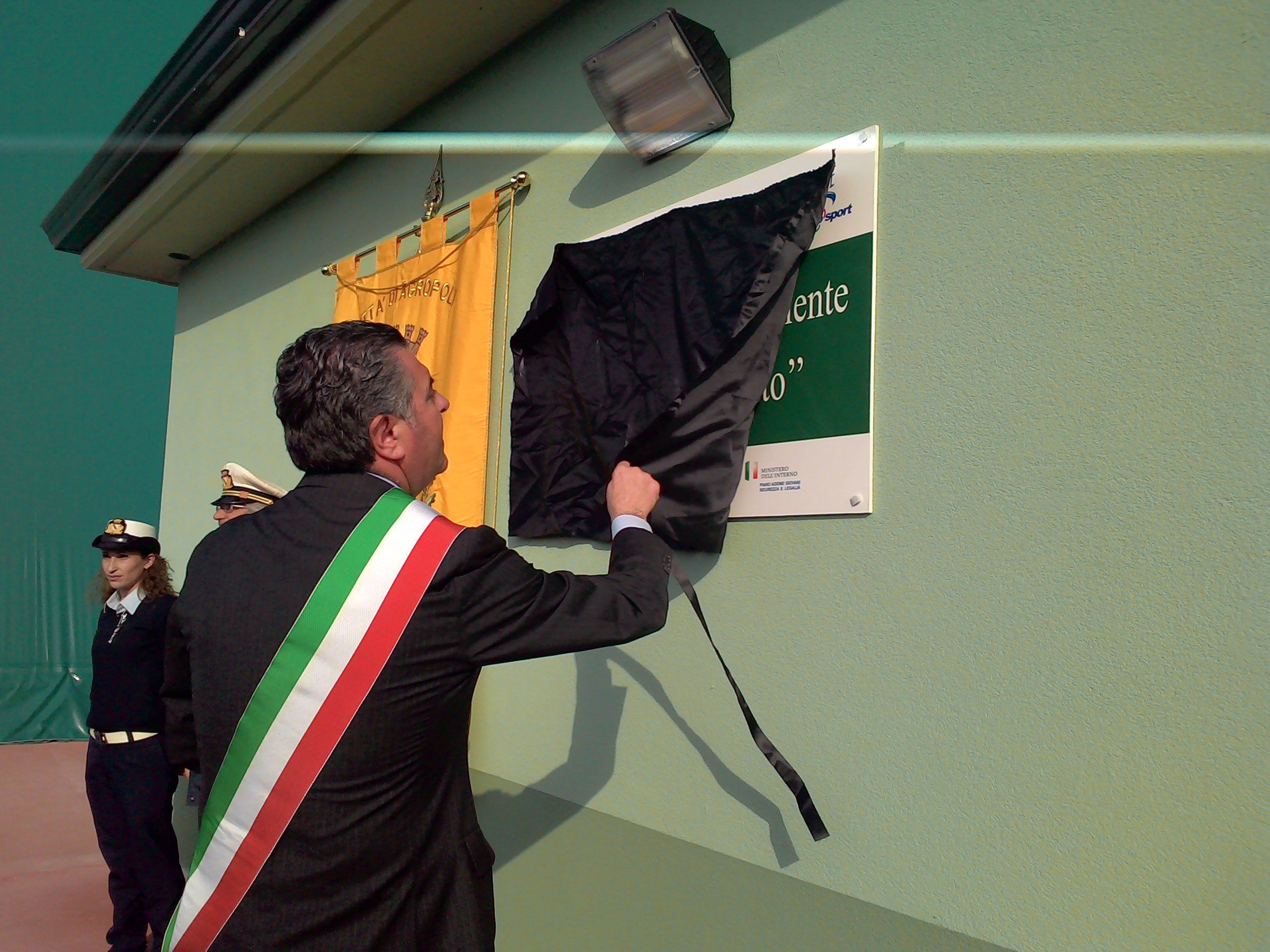 """Inaugurato ad Agropoli il campo """"Peppino Impastato""""   FOTO"""