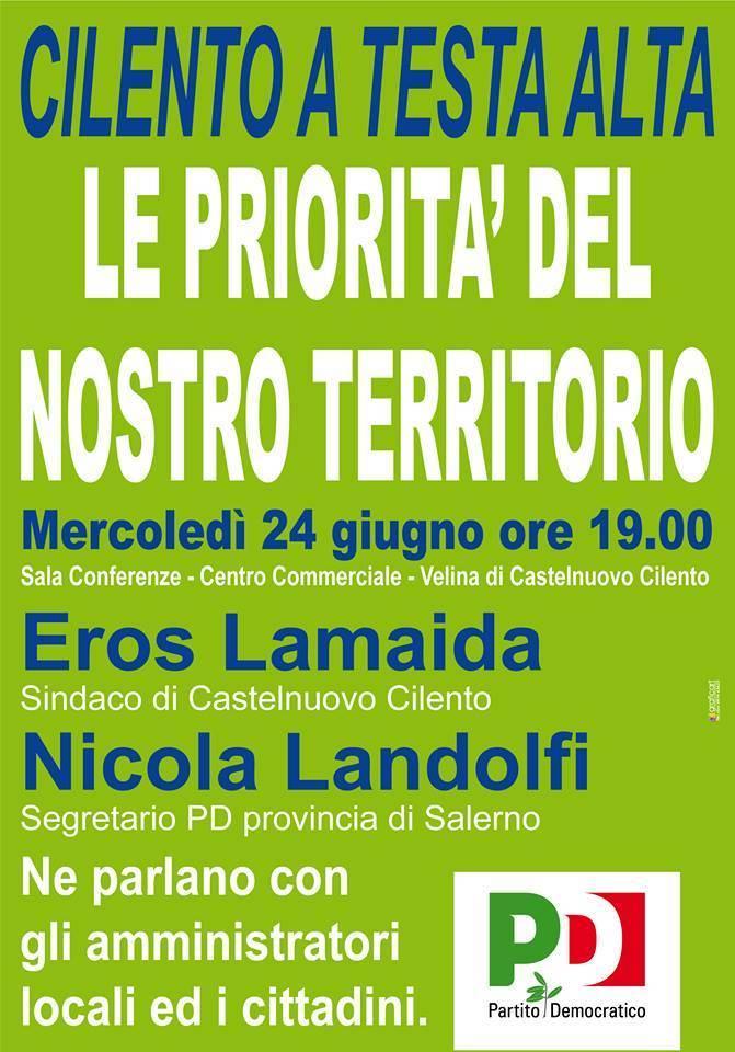 """""""Le priorità del territorio"""", se ne parla a Castelnuovo"""