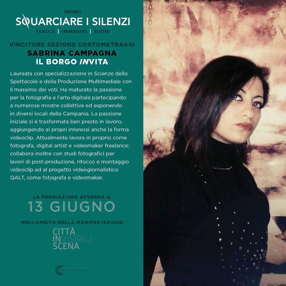 """Photo of Un cortometraggio su Roscigno trionfa a al contest """"Squarciare i Silenzi"""""""