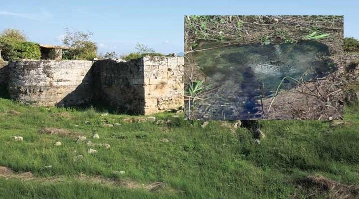 Ripulita l'antica fonte d'acqua della città di Poseidonia