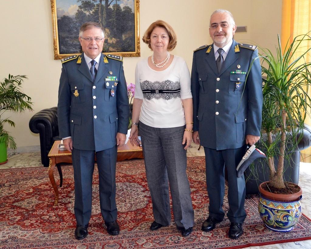 Il Comandante Piccinni in vista alla sede del Comando Provinciale di Salerno della GdF