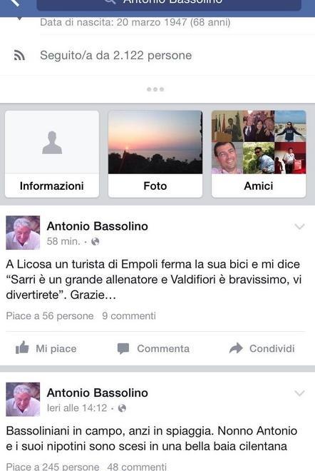 """Tifoso toscano """"raccomanda"""" Sarri a Bassolino. Siparietto sulle spiagge del Cilento"""