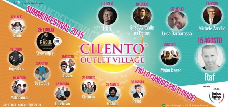 Al via la terza edizione della kermesse musicale firmata Cilento Outlet Village
