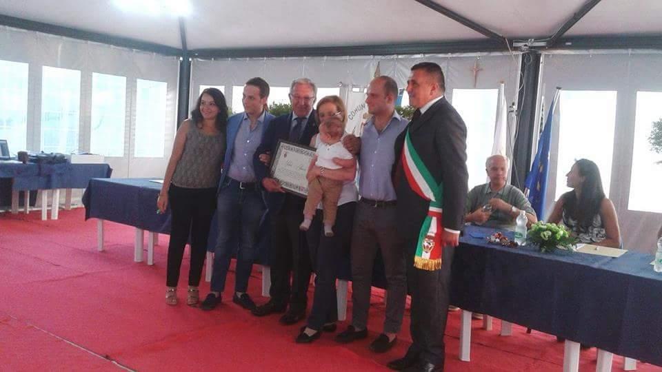 A Michele Albanese attestato di benemerenza e spilla d'onore