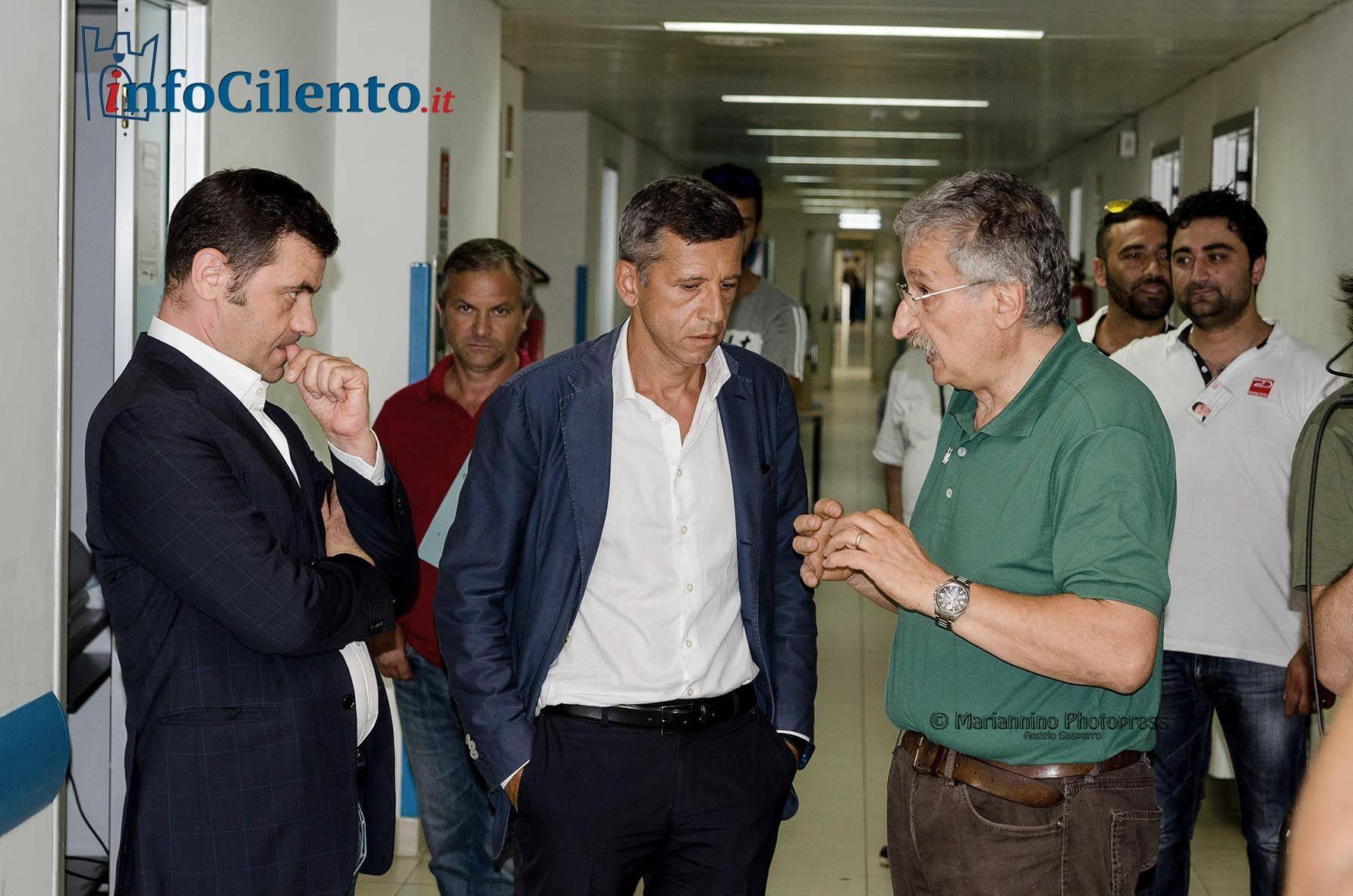 """Visita di Squillante e Coscioni all'ex ospedale di Agropoli: """"Implementazione dopo l'estate"""""""