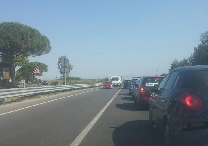 Continua il controesodo, ancora traffico sulle strade del Cilento
