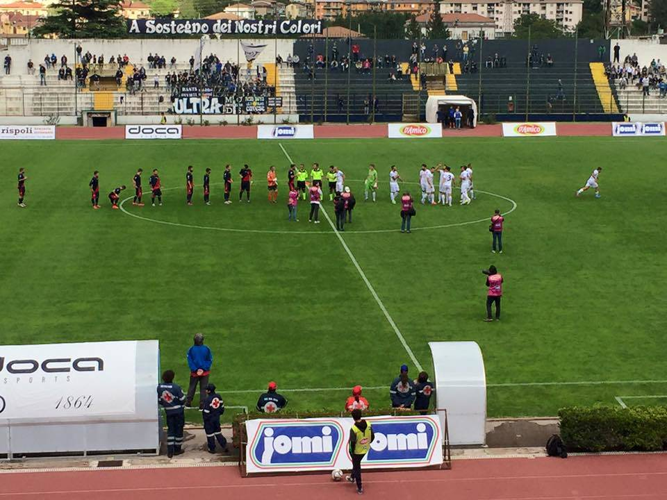 Calcio, Serie D: buio in casa Gelbison, sconfitta per 3 a 0 a Cava