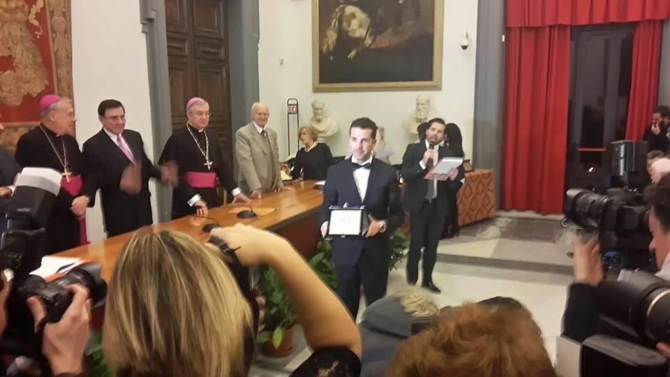 Personalità Europea 2015, premiato il giornalista cilentano Vincenzo Rubano