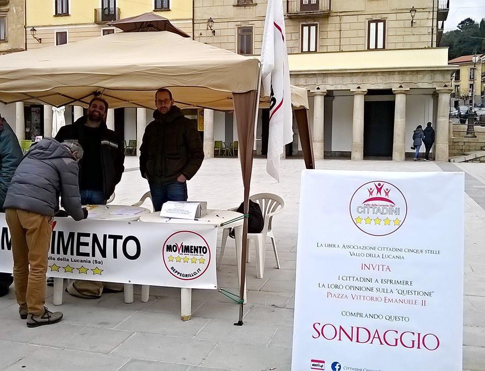 Vallo della Lucania: sondaggio dei 5 Stelle sulla piazza