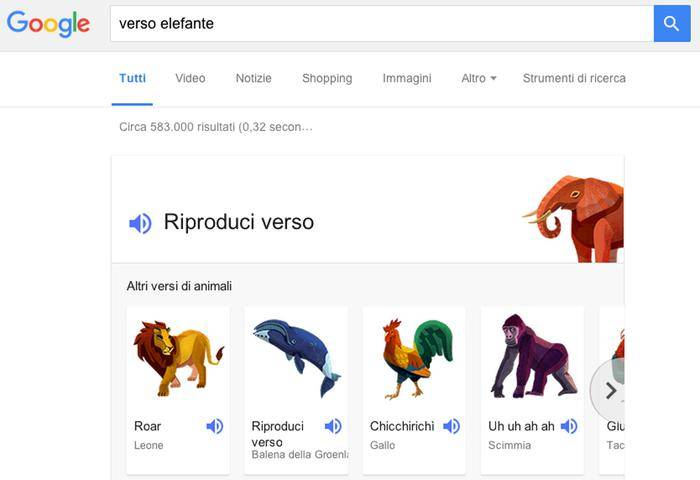 Google fa il verso degli animali