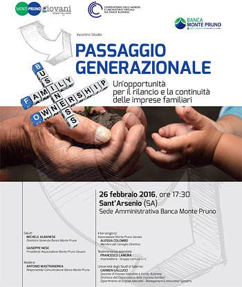 """""""Passaggio generazionale"""": un incontro per il rilancio delle imprese familiari"""