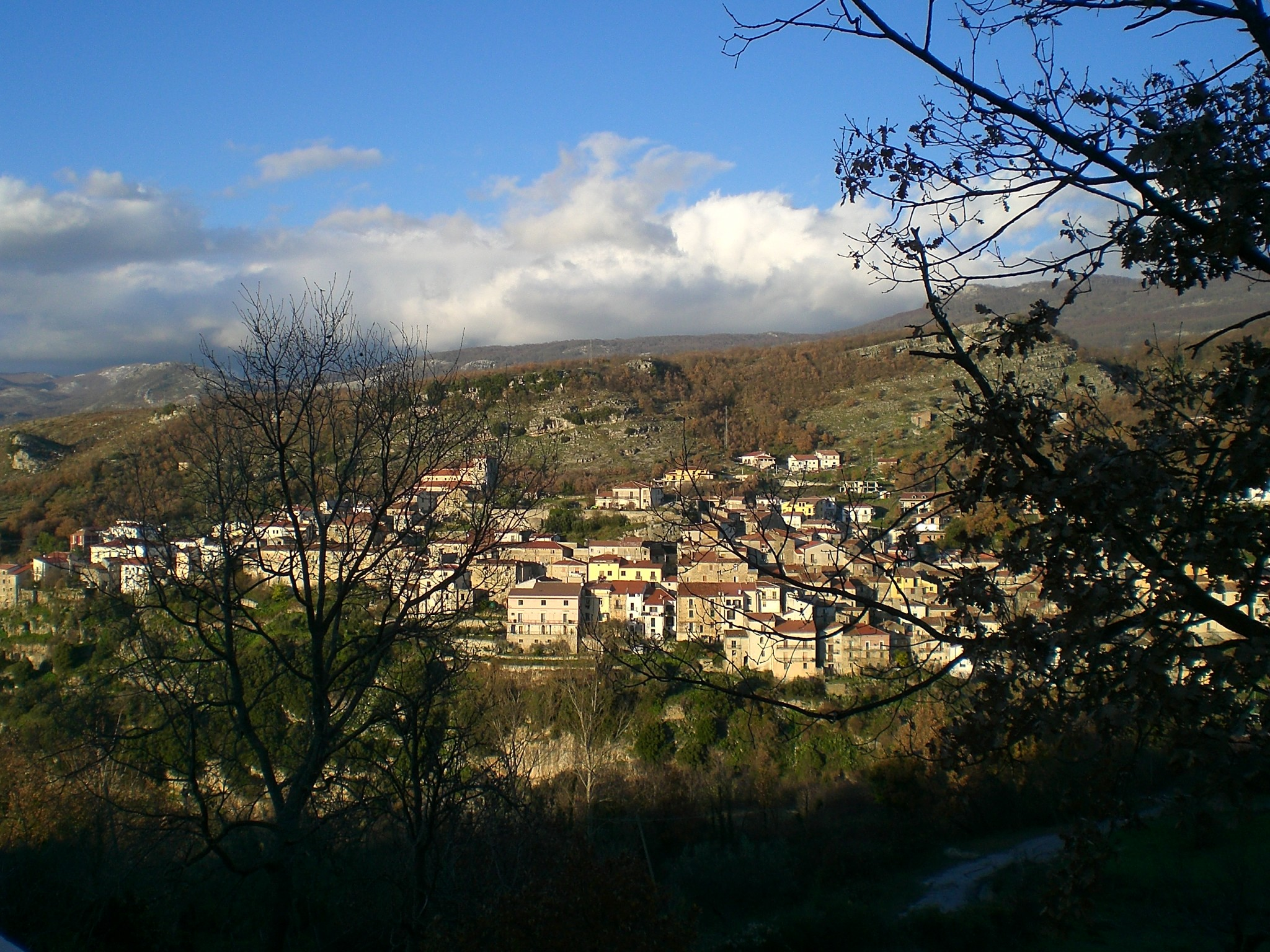 Un panorama di Corleto Monforte