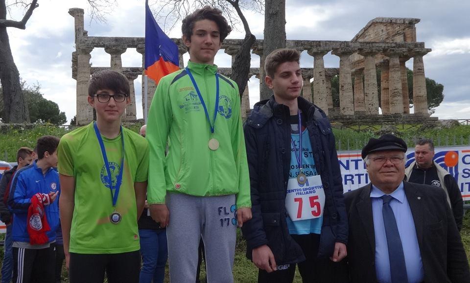 Paestum ieri terza tappa della campestre CSI Campania