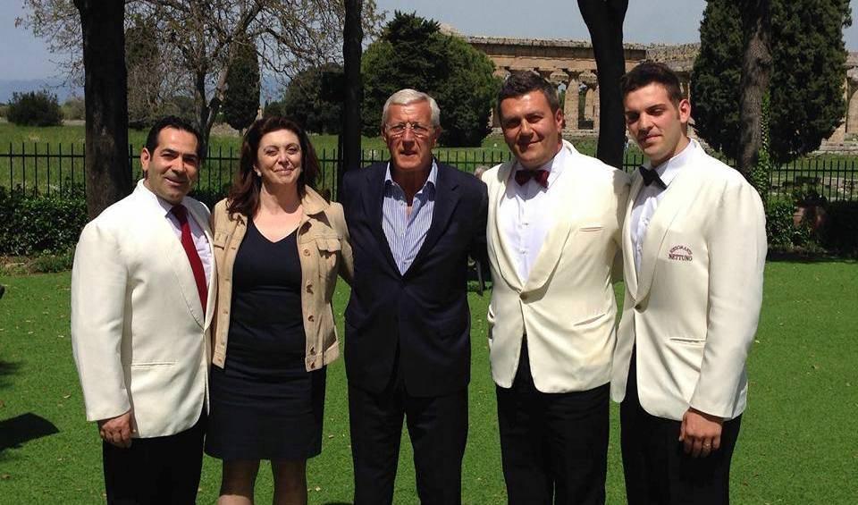 L'allenatore della nazionale italiana di calcio campione del mondo a Paestum
