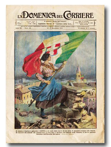 """Agropoli, mostra sulla Grande Guerra con le copertine della """"Domenica del Corriere"""""""
