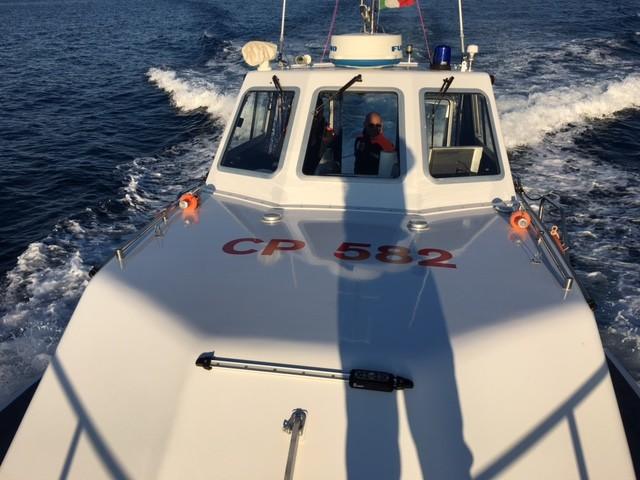Operazione della guardia costiera, sequestrata rete da pesca illegale