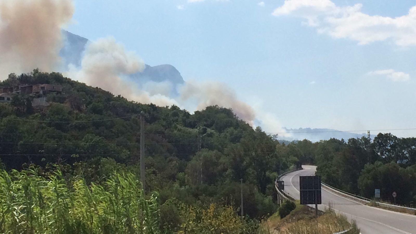 Ancora incendi a Capaccio Paestum