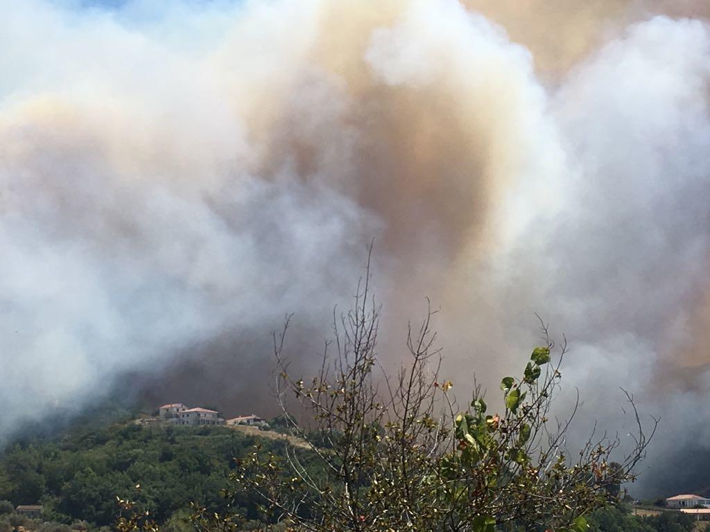 Incendi, turisti bloccati in un B&B. Ancora fiamme ad Agropoli