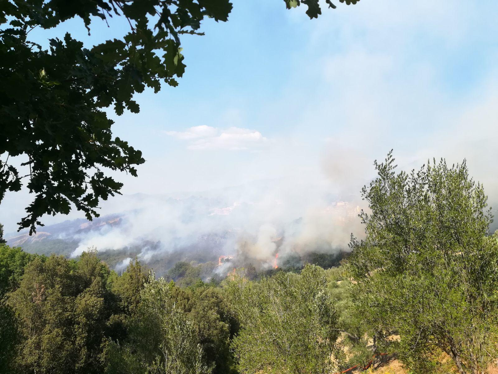 Emergenza incendi ad Ascea