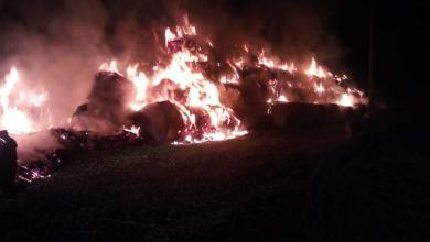 Photo of Polla, incendio in fienile: distrutte 400 rotoballe