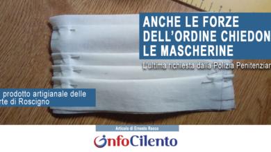 Photo of Le mascherine artigianali di Roscigno vanno a ruba