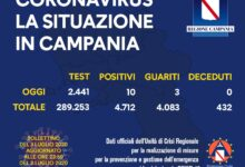 Photo of Coronavirus, 10 positivi oggi in Campania